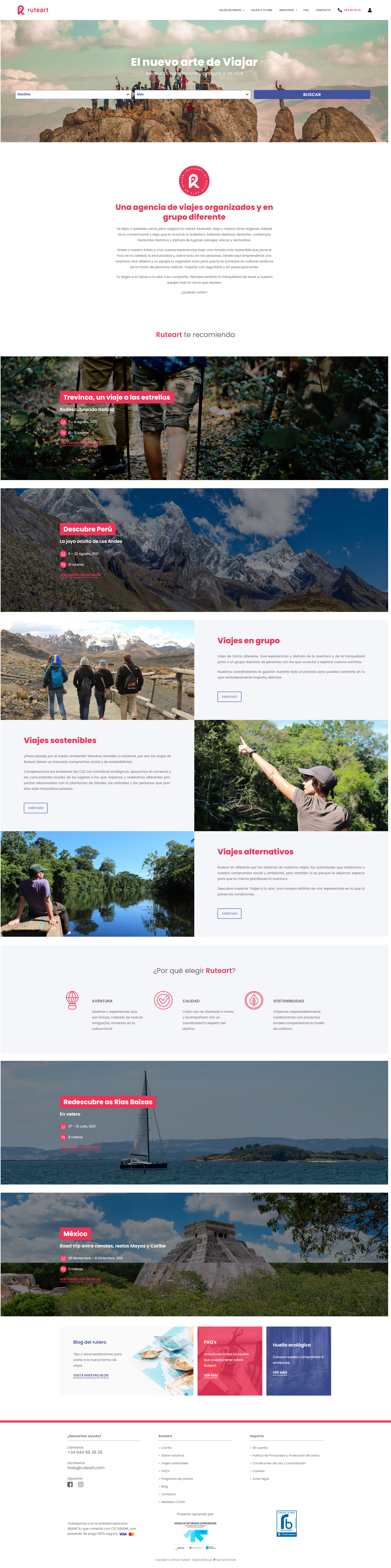 diseño de pagina web para agencia de viajes