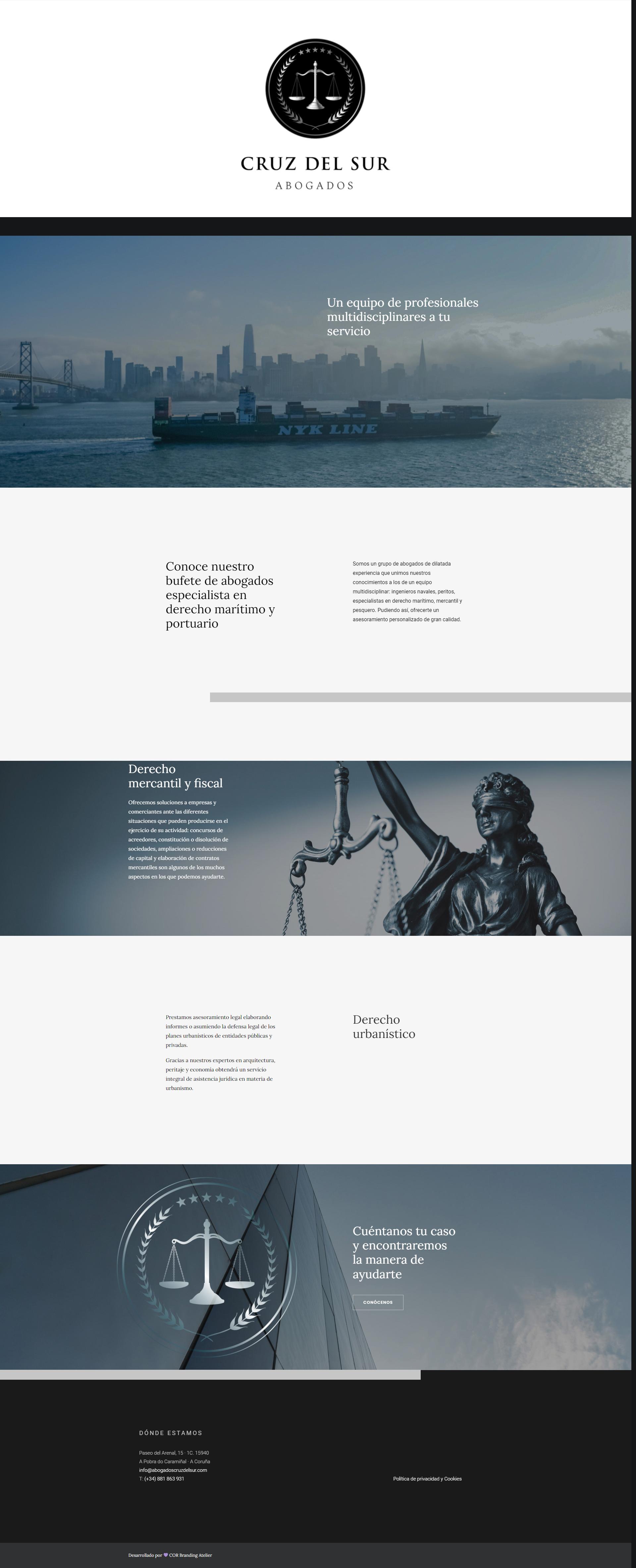 diseño web para bufete de abogados